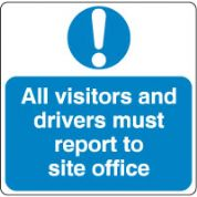 Mandatory Safety Sign - All Visitors 029